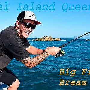 Keppel Island Fishing- Queenfish on Bream gear.. Huge fish on light 10lb line. Yeppoon QLD Australia - YouTube