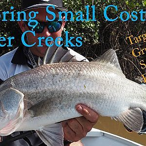 EXPLORING A NARROW SALTWATER CREEK FOR AWESOME ESTUARY FISH- Barra, Jacks, Grunter, Salmon, Flathead - YouTube